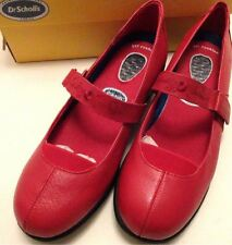 Dr Scholl's Mary Jane Strap Red Casual Womens Shoe