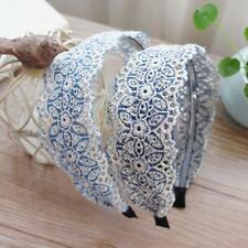 Vintage Women Girls Wide Hair band Lace Alice Band Headband Hair Accessories