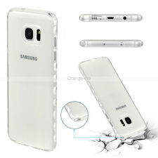 Soft TPU Silicone Rubber Crystal Transparent Back Slim Case Cover For Samsung