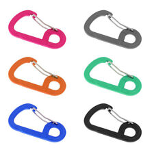 10Pcs D Shape Spring Carabiner Clip Hook Keychain for Camping Climbing Backpack
