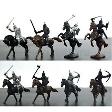 AU 28Pcs Medieval Knights Warriors Soldiers Figures Model Playset Kids Toys New
