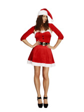 Fever Santa Babe Red Dress Costume Christmas Fancy Dress With Belt And Hat