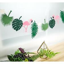 Hawaiian Tropical Flamingo Bunting Summer Party Banner with String Light Decor