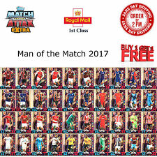 Match Attax EXTRA 2016/17 Man of the Match MOTM Cards 2017 Fast Free Delivery