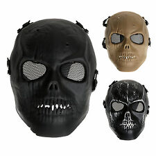 Army Mesh Skull Skeleton Airsoft Outdoor Game Full Face Paintball Protect Mask ~