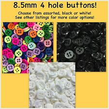 8.5mm Buttons Plastic Red White Black Pink Blue Sewing Doll 4 hole shirt buttons