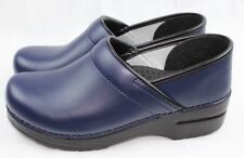 Dansko Professional Box Dark Blue Leather Clogs Doctor/Nurses/Chef Shoes