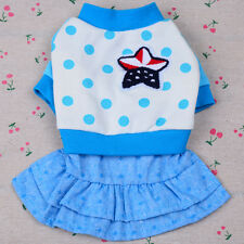Printed Small Pet Dog Dress Clothing Poodle Yorkie Puppy Cat Dog Skirt Apparel