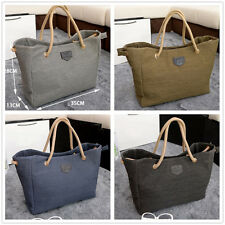 New Women Canvas Handbags Solid Clutch Shoulder Bag Large Lady Tote Shopping Bag