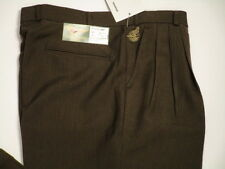 Selected mens brown pleated front cuffed leg dress slacks