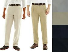 St Johns Bay Mens Pants Worry Free Chino Classic size 30 34 36 38 40 42 NEW