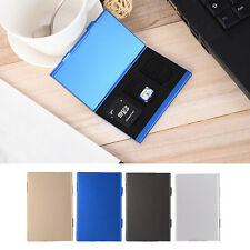 Portable Thin Metal Shell Memory Card Storage Box for TF/CF/SD Protective Case