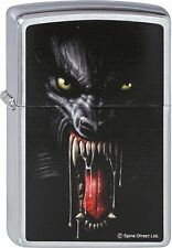 ZIPPO Spiral Lycan Tribe WOLF BESTIE brushed on chrome by Spiral DIRECT LTD