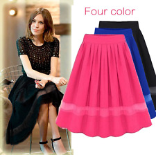 Women's Clothing Pleated chiffon half skirt stitching fairy dress fashion Skirts