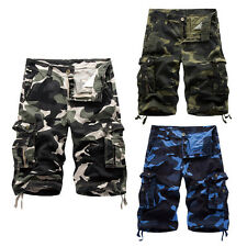 Mens Military Army Tactical Camouflage Cargo Shorts Casual Cotton Cargo Pants