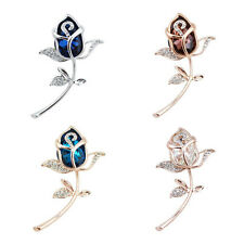 Brooches Gift Brooch 1Pcs Rose Flower Rhinestone Alloy Crystal Clothing jewelry