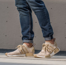 """Adidas NMD_R1 PRIMEKNIT """"Khaki & Off White"""" Men's Trainer """"All Sizes"""" (BY1912)"""