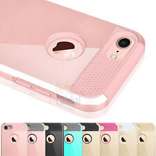 PC Shockproof Hybrid Rubber Hard Cover Case for Apple iPhone 7 & iPhone 7 Plus