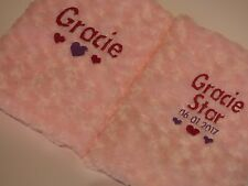 Personalised baby gift, personalised baby blanket - add any name and date
