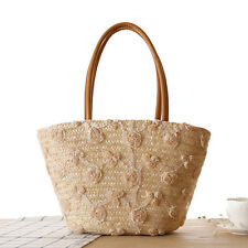 Flower Straw Bags Handmade Sweet Lady Summer Beach Bag Holiday Shoulder Bags