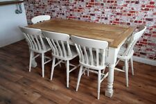 Two to Twelve Seater Rustic Farmhouse Extending Dining Table Set - Farrow & Ball