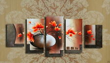 MODERN ABSTRACT HUGE WALL ART OIL PAINTING ON CANVAS 5PC (no Framed)