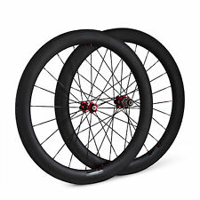 3K Glossy Finish 23mm Wide 60mm Tubular Carbon Bike Road Wheels Bicycle Wheelset