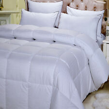 Combed Cotton 300 Thread Count Overfilled Dobby Down Alternative Comforter