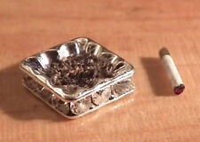 1/12 Dolls House miniature Ashtray & Cigarette Handmade Lounge Set Pub Study LGW