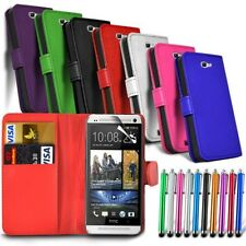 HTC One A9s - Leather Wallet Card Stand Case Cover & Stylus