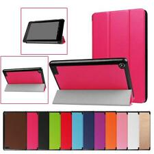 Folding Stand Leather Case Cover Protector For Amazon Kindle Fire 7 2017 Tablet