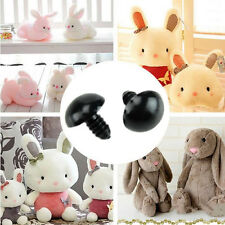 100Pcs 6-14mm Black Safety Plastic Eyes for Teddy Bear Dolls Toy Animal Felting