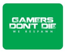 Gamers Don't Die Mouse Mat - Gaming PC Laptop Mousepad mouse Pad Christmas Gift