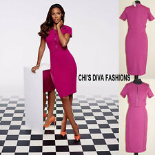 ROCHELLE HUMES Stud Pencil Dress In Berry Sizes 10, 12, 14, 16 RRP £74