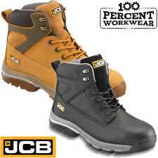 JCB FAST TRACK Safety Leather Work Boots Waterproof Steel Toe Cap Mid Sole New