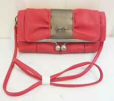 "NWT Jessica Simpson CLUTCH HANDBAG Cross Body PURSE ""Chrissy Bow"" Pink $58"
