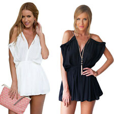Rompers V-Neck New Strap Beach Jumpsuits Women Short Fashion Summer Sexy