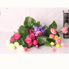 2 Artificial Fake Plants Water Lily Bunch Flowers Wedding Garden Home Decor