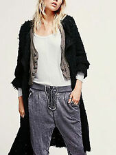 NWT $298! Sold Out! Free People Maxi Jagger Sweater Coat XS,S Black Cardigan