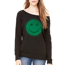 Humor Happy Irish Women's Black Funny T-shirt NEW Sizes S-2XL