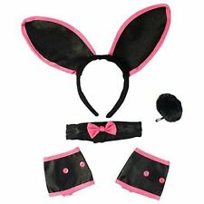 Sexy Bunny Costume Set - Bunny Ears Collar Cuffs & Tail For Adults Funny Party H