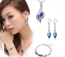 Necklace Earrings Austrian crystal Hot Three-piece Combination New Bracelet