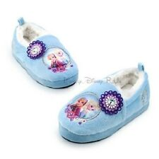 Disney Store Frozen Elsa & Anna Plush Slippers House Shoes Girls Size 7/8- 9/10