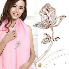1Pcs Crystal Rhinestone Brooch Brooches Clothing Alloy Gift jewelry Rose Flower