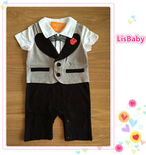 Formal Baby Boy Summer One-Piece with Rose【FREE POSTAGE】New - Closing Down Sale