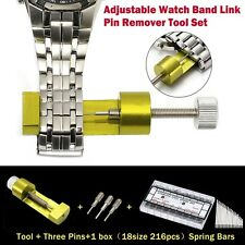 Adjustable Watch Band Link Pin Remover Spring Bars Pin Watch Repair Tool Kit Set