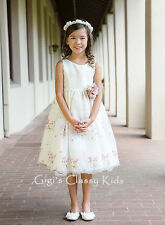 New Ivory Flower Girls Dress Easter Sizes 2-12 Graduation Christmas Fancy Party