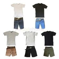 MagiDeal 1/6 Male T-shirt Shorts Belt Set for 12'' TTL BBI SS Action Figure Body