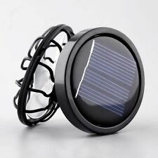 Portable Mini Solar Clip-on Fan Outdoor Sun Powered Panel Cooling Cell Fan Black
