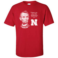 "Abe Lincoln ""No Place Like NEBRASKA"" Quote Huskers Tee Shirt by CornBorn"